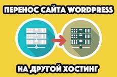 Перенесу сайт WordPress на другой домен, хостинг 22 - kwork.ru
