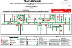 Разработка плана эвакуации по ГОСТу 63 - kwork.ru
