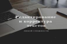 Корректирование художественных текстов 7 - kwork.ru