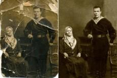 Профессиональная реставрация старых фотографий 13 - kwork.ru