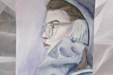 Сделаю портрет по фотографии в стиле Акварель 8 - kwork.ru