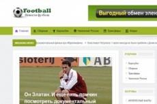 Футбол готовый автонаполняемый сайт 1000 статей 6 - kwork.ru