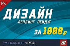 Индивидуальный дизайн landing page 9 - kwork.ru
