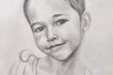 Нарисую портрет карандашом 23 - kwork.ru