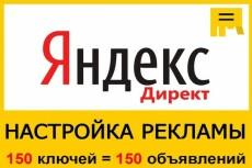 Профессионально настрою рекламную кампанию в Яндекс Директ на 100 ключей 22 - kwork.ru