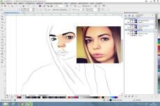 Качественный портрет в векторе 13 - kwork.ru