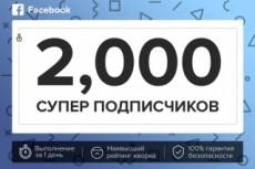 Друзья, подписчики на профиль Facebook 100 20 - kwork.ru