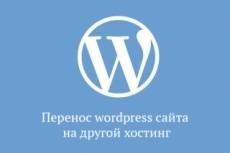 Перенесу сайт WordPress на другой домен, хостинг 23 - kwork.ru
