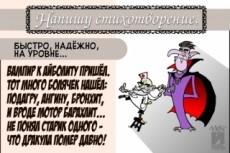 Пишу стихи на заказ: -Солидно и торжественно -Весело и непринуждённо-Трогательнo 22 - kwork.ru