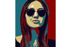 Поп арт портрет 21 - kwork.ru
