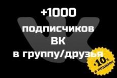 500 друзей - подписчиков на профиль ВК - на личную страницу 19 - kwork.ru