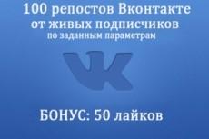 Сделаю 200 репостов Вконтакте на вашу запись 19 - kwork.ru