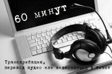 Транскрибация (перевод с аудио в текст) 15 - kwork.ru