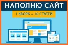Наполнение контентом 14 - kwork.ru
