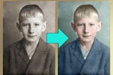 Реставрация старых фото 9 - kwork.ru