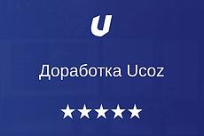 Ucoz администрирование, доделка, 1 рабочий день 10 - kwork.ru