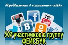 500 участников в вашу группу Facebook 6 - kwork.ru