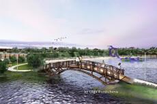 3D схема коттеджного посёлка 72 - kwork.ru