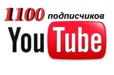 300 подписчиков Youtube 22 - kwork.ru