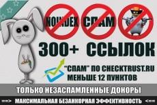 10 анкорных ссылок ТИЦ от 40 до 430,  спам меньше 10 по CheckTrust 7 - kwork.ru