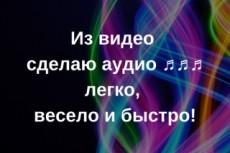 Извлеку звук с видео 20 - kwork.ru