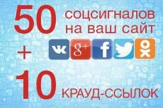 10 уникальных постов с ссылкой 43 - kwork.ru
