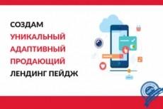 Landing page с индивидуальным дизайном 12 - kwork.ru