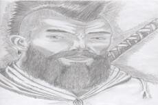 Черно-белый рисунок, эскиз татуировки 19 - kwork.ru