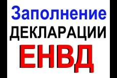 Декларация ЕНВД для ООО и ИП 10 - kwork.ru