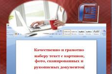 Качественно и грамотно наберу любой текст 10 - kwork.ru