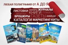 Любая полиграфия под ключ - визитки, флаеры, брошюры, маркетинг-киты 7 - kwork.ru