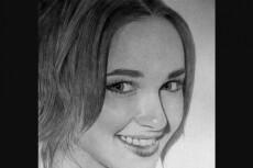 Нарисую ваш портрет карандашом плюс бонус 20 - kwork.ru