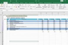 Выполню работу в Excel 20 - kwork.ru