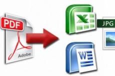 Конвертация PDF в TXT, DOC, XLS, PPT, JPEG, PNG, TIFF. Корректура PDF 13 - kwork.ru