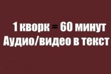 Транскрибация, перевод видео или  аудиозаписи в текст 21 - kwork.ru