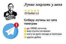 База чатов Telegram, криптовалюта 11 - kwork.ru