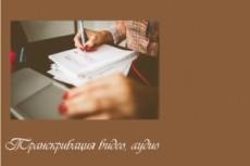 Транскрибация. Перевод из аудио, видео в текст - 60 минут 23 - kwork.ru