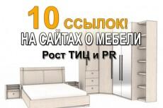 Ссылки из 500+ статей, общий ТИЦ 80000+ 8 - kwork.ru