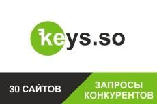 Выгрузка запросов конкурентов через Keys. so 12 - kwork.ru