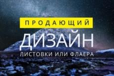 Эксклюзивный дизайн листовки или флаера 14 - kwork.ru
