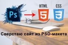 Верстка сайта по макету 14 - kwork.ru