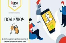 Создание кампании в Яндекс. Директ под ключ 9 - kwork.ru