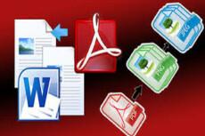 Конвертация текстовых файлов PDF, RTF, WORD и иных форматов 5 - kwork.ru