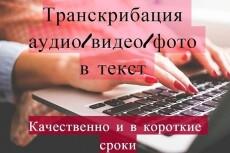 Переведу аудио, видео в грамотный текст 3 - kwork.ru