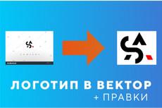 Отрисую ваш графический элемент из растра в векторный формат 36 - kwork.ru