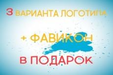Разработка уникального логотипа - 3 варианта 99 - kwork.ru