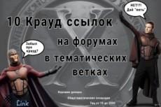 50 ссылок на трастовых сайтах и форумах 25 - kwork.ru
