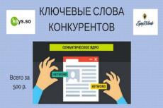 Подбор ключевых слов по домену конкурента, 10 доменов 10 - kwork.ru