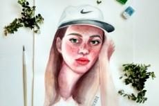 Нарисую ваш портрет акварелью 11 - kwork.ru