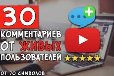 150 комментариев под видео youtube от реальных людей профили Россия 3 - kwork.ru